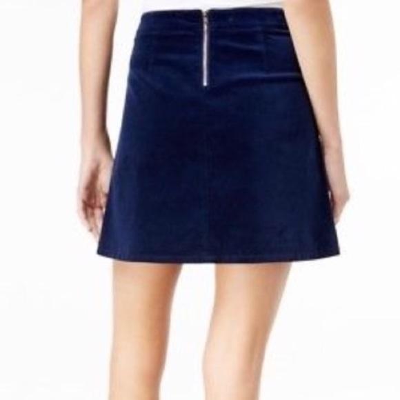 69ea1c5c5ab Maison Jules   Blu Norte Velvet Skirt   6   NWT